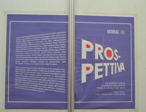 """PROSPETTIVA"" PAMERAN GAMBAR PERSPEKTIF MAHASISWA PENDIDIKAN SENI RUPA"